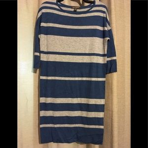 Tommy Bahama blue and gray striped dress